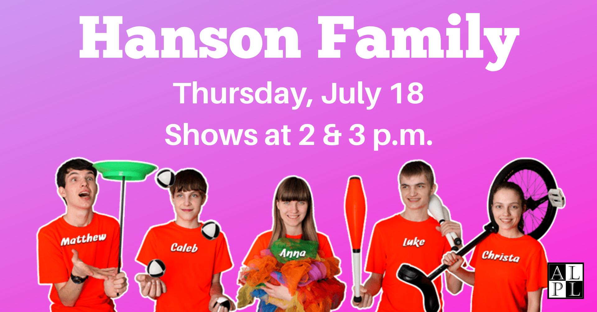 Facebook Event - Hanson Family